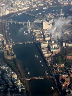 Getting to London - London from the air