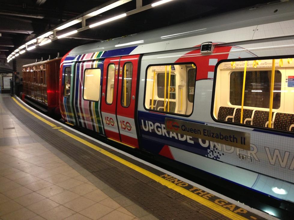 Modern Underground Train at Baker Street