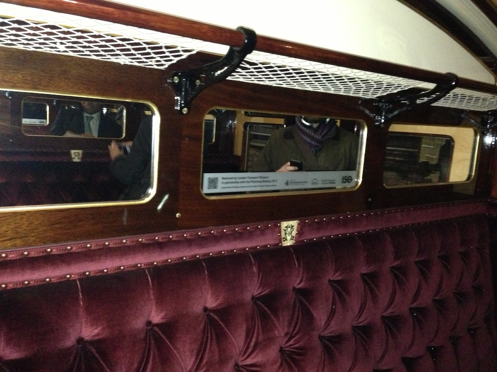 Interior of 1892 London Underground Carriage