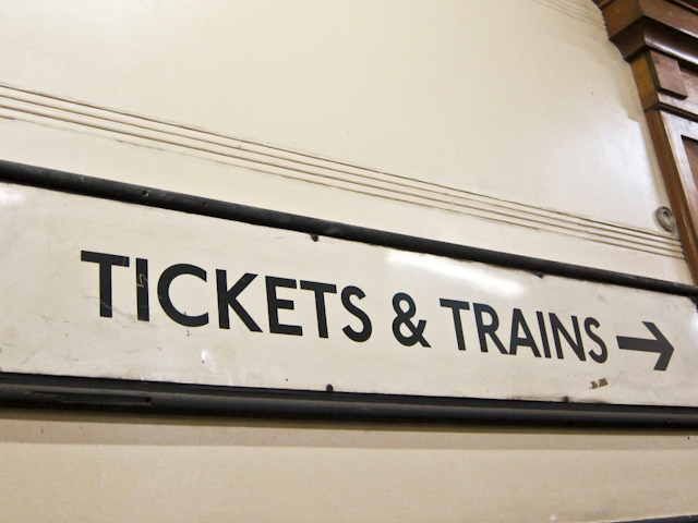 Aldwych Station Tour - Tickets and train sign