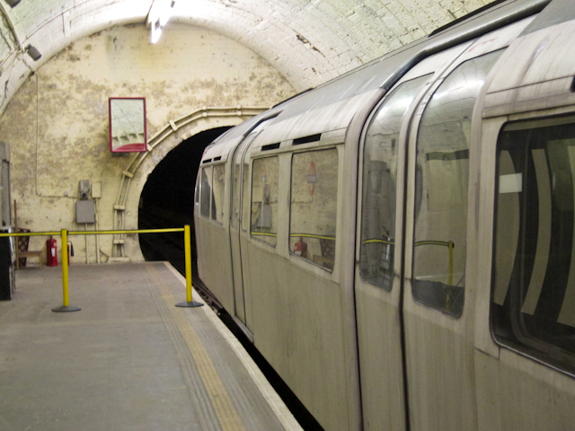 Aldwych Station Tour - Old Underground train
