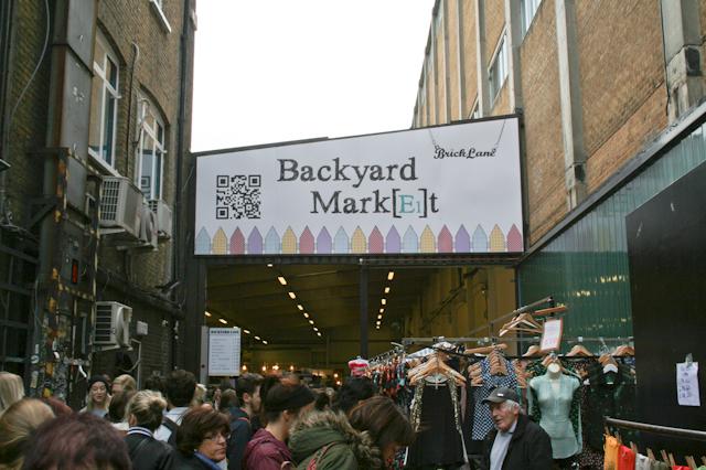 Visiting Brick Lane - Backyard Market