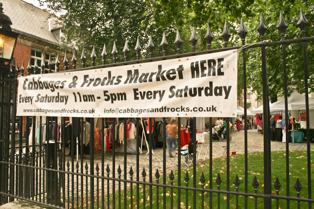 Visiting Marylebone - Cabbages and Frocks Market