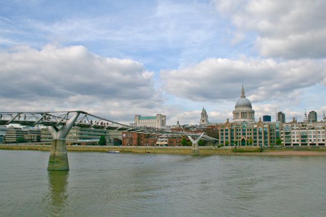 Visiting The South Bank - Millennium Bridge