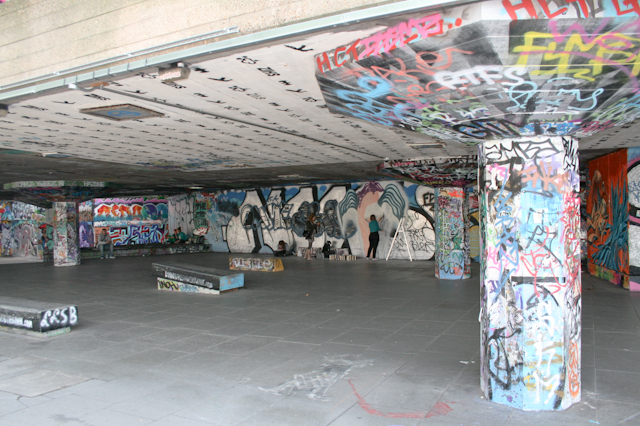 Visiting The South Bank - The skate park